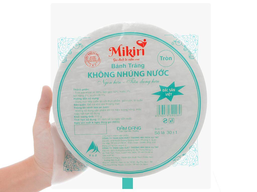 Bánh tráng 21cm Mikiri gói 110g 4