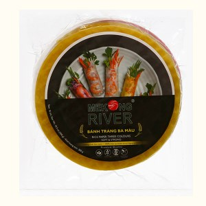 Bánh tráng 16cm ba màu Mekong River gói 300g