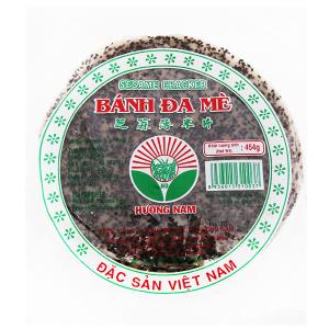 Bánh đa mè đen 20cm Hương Nam gói 454g