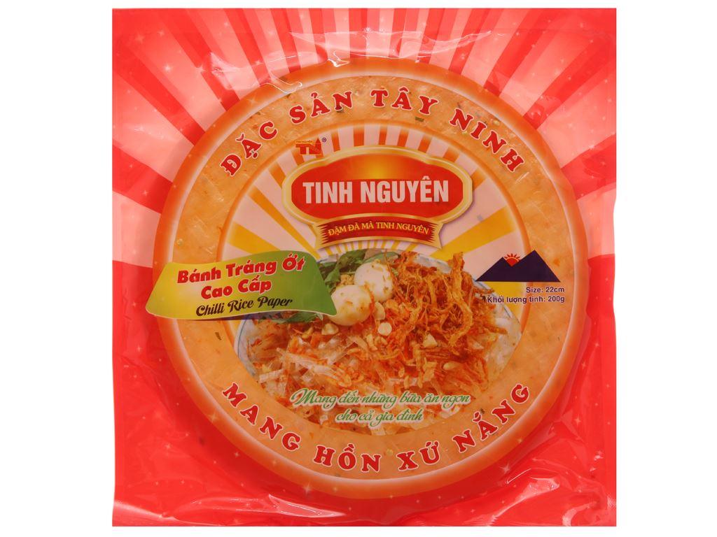 Bánh tráng ớt 22cm Tinh Nguyên gói 200g 2