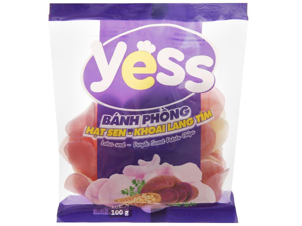 Bánh phồng hạt sen - khoai lang tím Yess gói 100g 1
