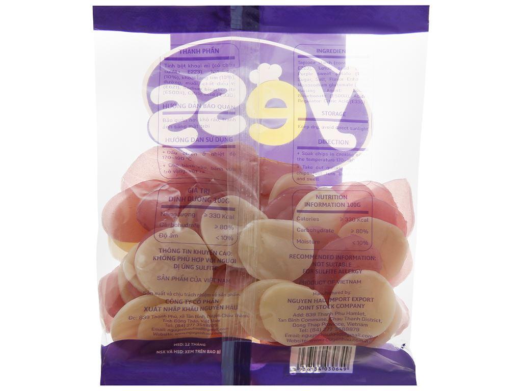 Bánh phồng hạt sen - khoai lang tím Yess gói 100g 2