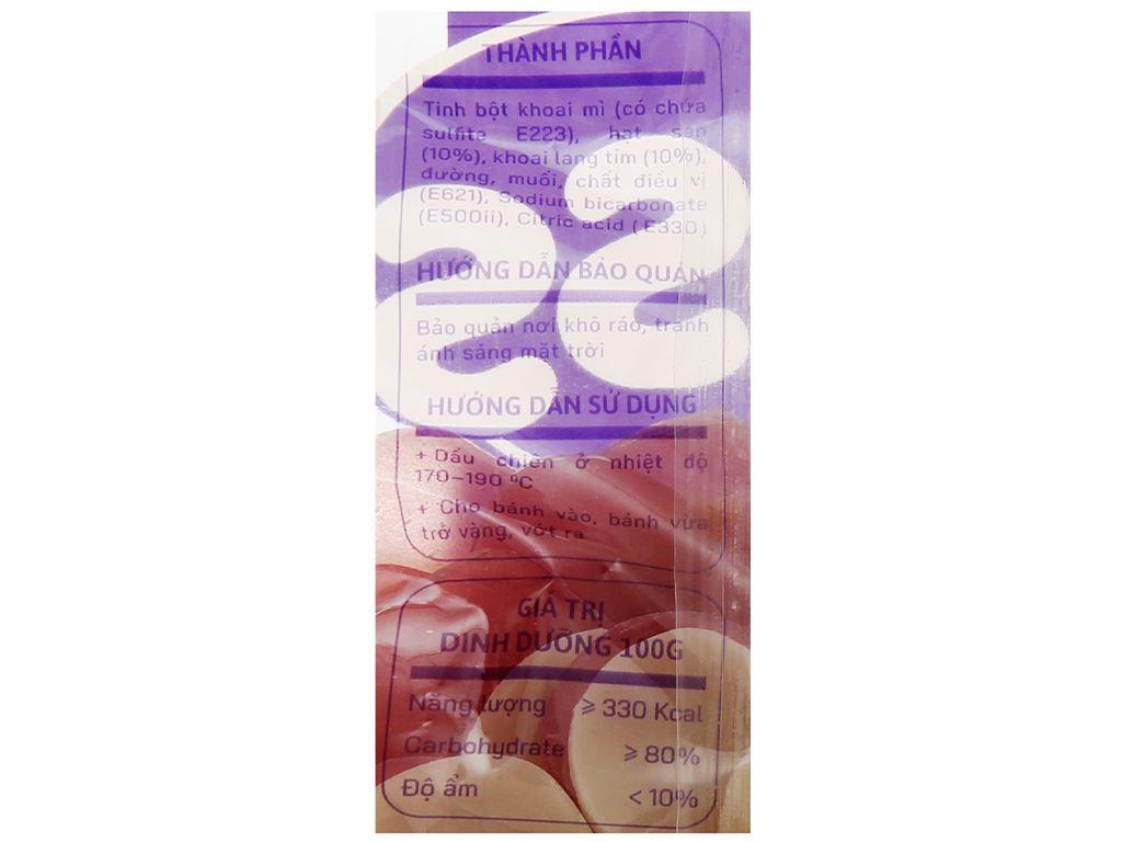 Bánh phồng hạt sen - khoai lang tím Yess gói 100g 3
