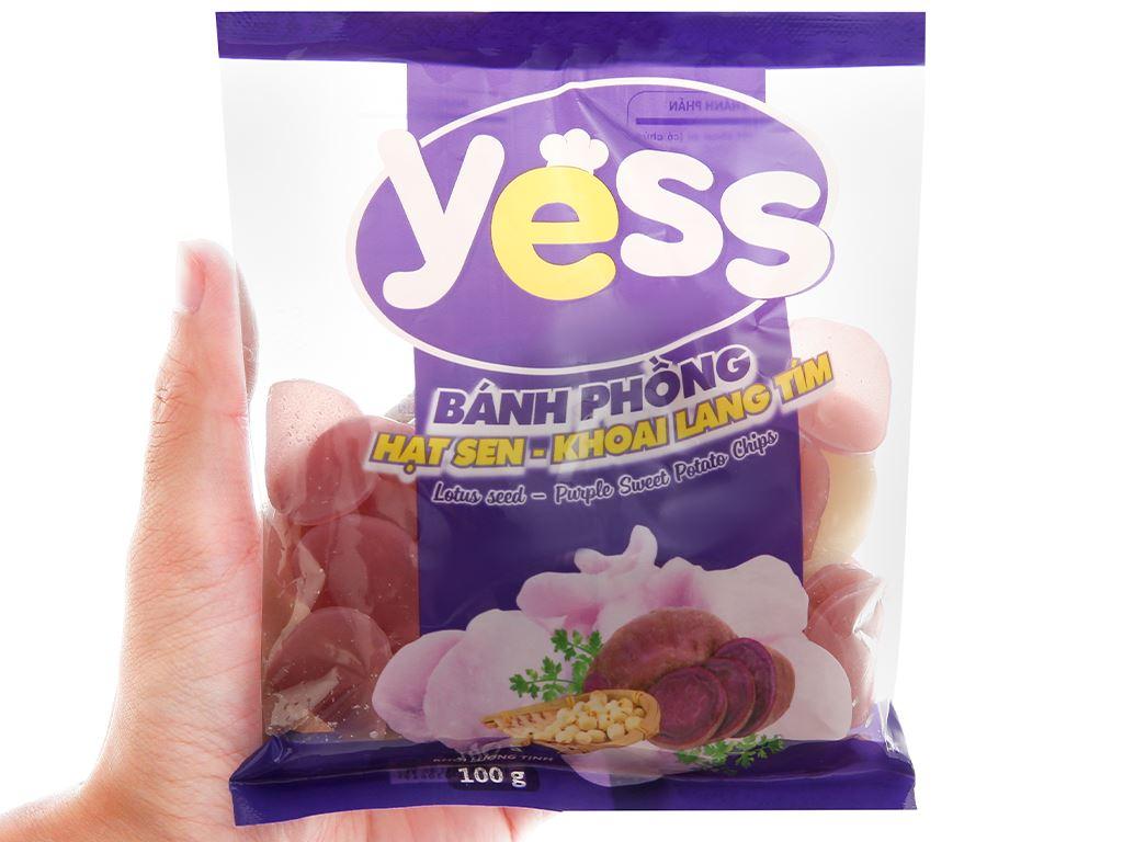Bánh phồng hạt sen - khoai lang tím Yess gói 100g 4
