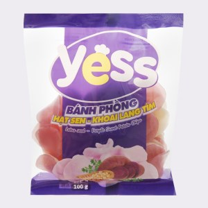 Bánh phồng hạt sen - khoai lang tím Yess gói 100g