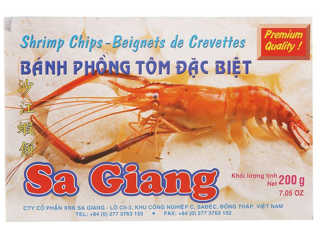 Bánh phồng tôm đặc biệt Sa Giang hộp 200g 1