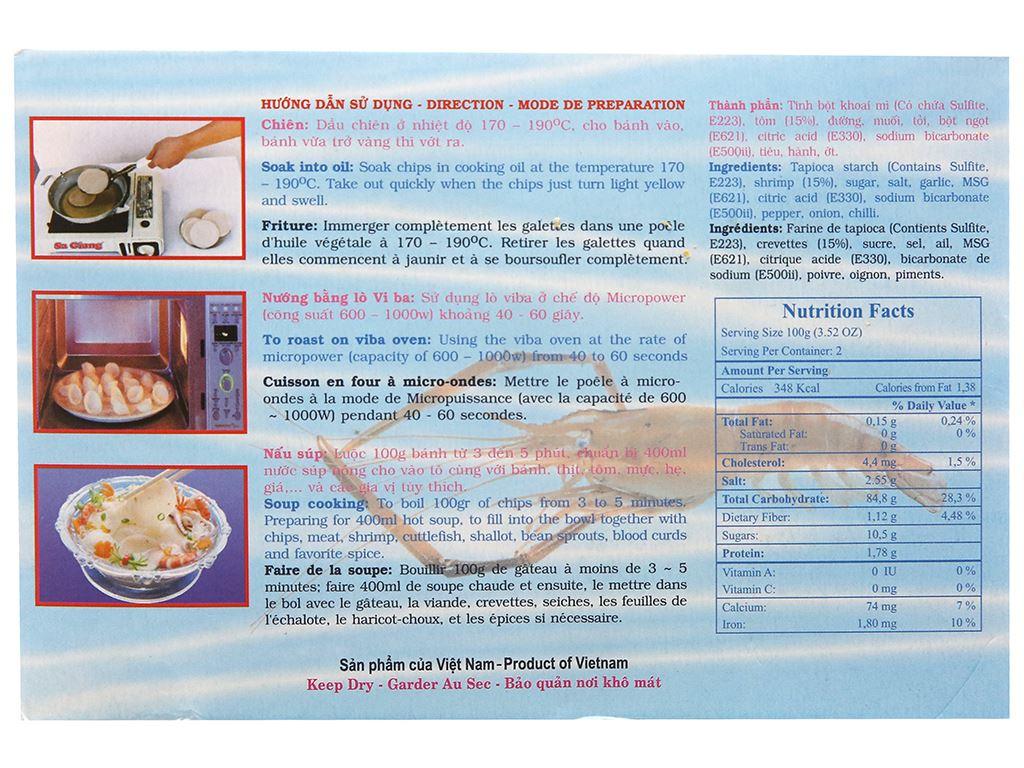 Bánh phồng tôm đặc biệt Sa Giang hộp 200g 2