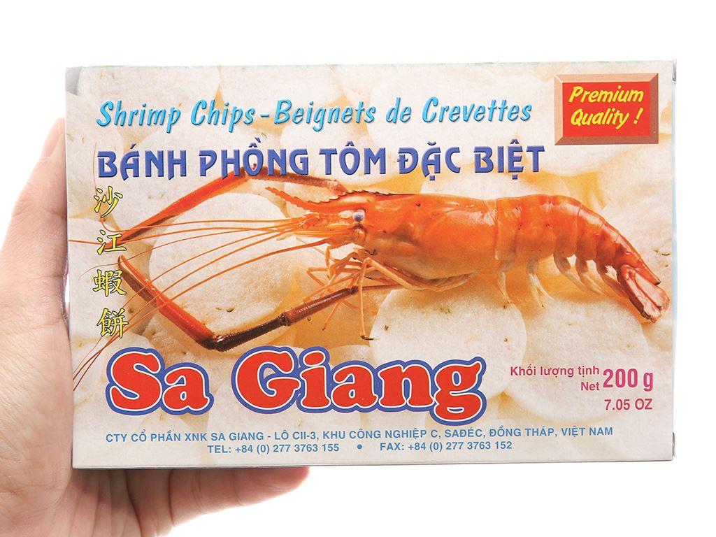 Bánh phồng tôm đặc biệt Sa Giang hộp 200g 4