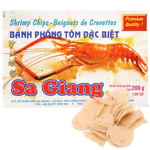 Bánh phồng tôm đặc biệt Sa Giang hộp 200g