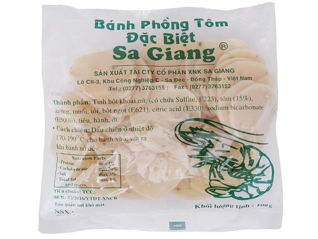 Bánh phồng tôm đặc biệt Sa Giang gói 100g 2