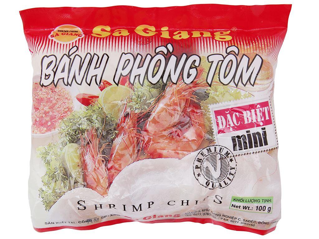 Bánh phồng tôm mini đặc biệt Phồng tôm nhỏ Sa Giang gói 100g 2