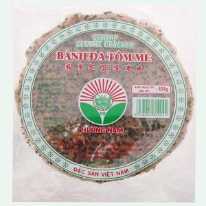 Bánh đa tôm mè 20cm Hương Nam gói 454g