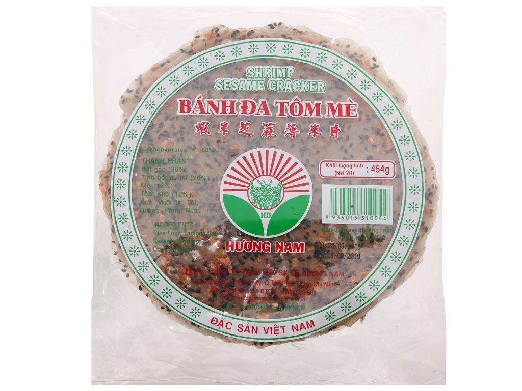 Bánh đa tôm mè 20cm Hương Nam gói 454g 2
