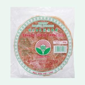 Bánh đa tôm mè trắng dừa 20cm Hương Nam gói 454g