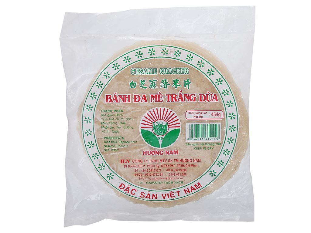 Bánh đa mè trắng dừa 20cm Hương Nam gói 454g 2