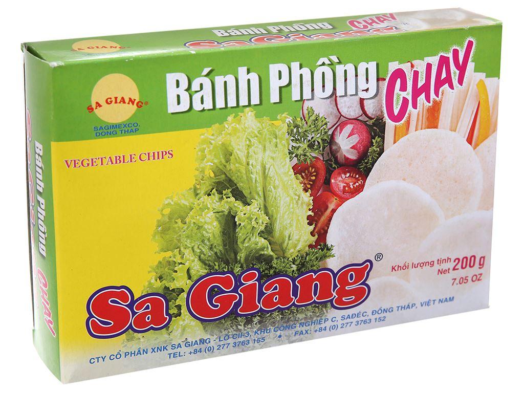 Bánh phồng chay Sa Giang hộp 200g 2