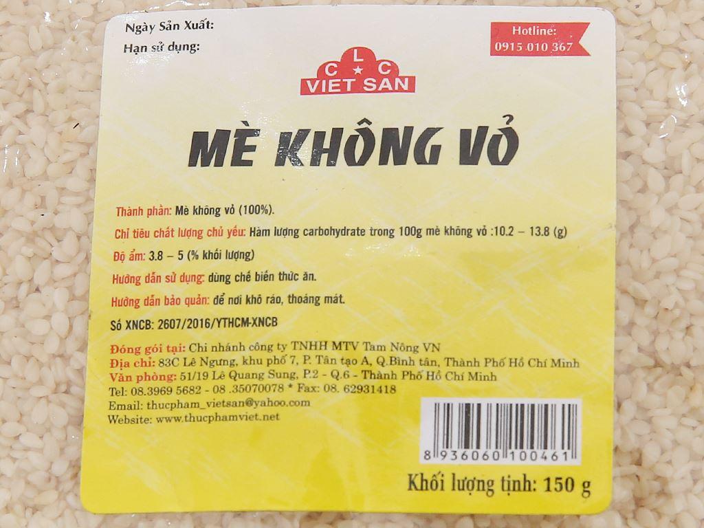 Mè không vỏ Việt San 150g 2