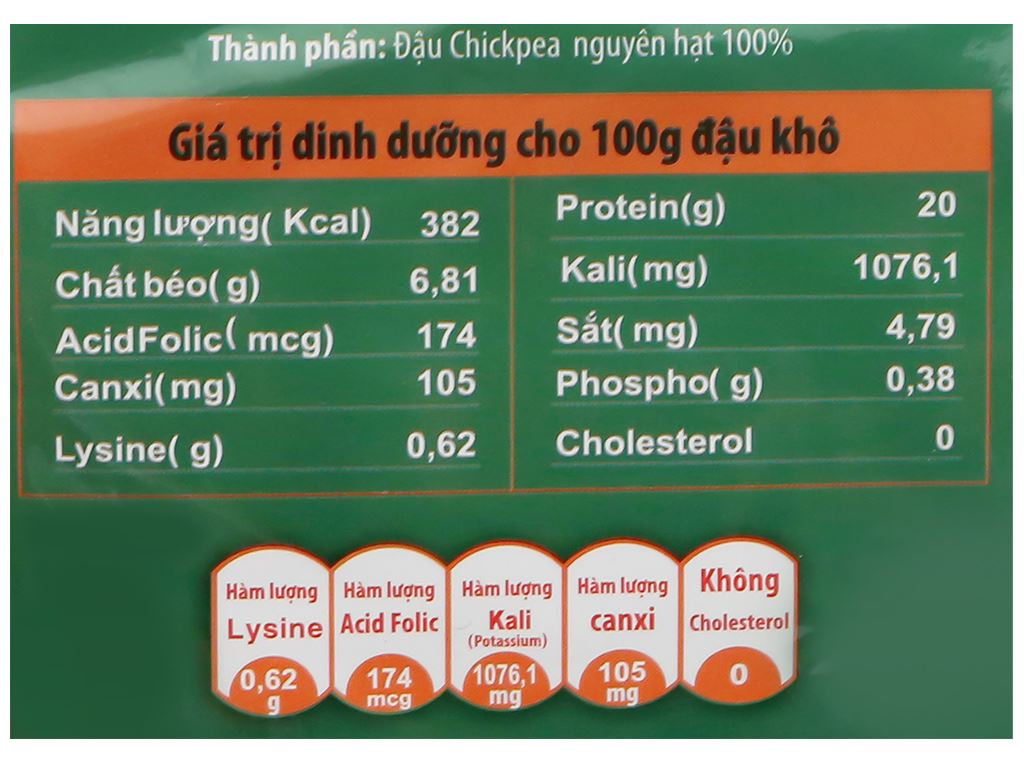 Đậu gà nguyên hạt TMT Foods 500g 7