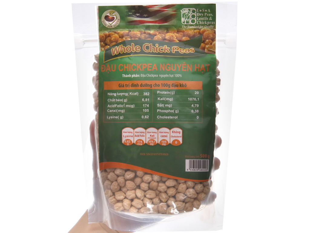 Đậu gà nguyên hạt TMT Foods gói 500g 4
