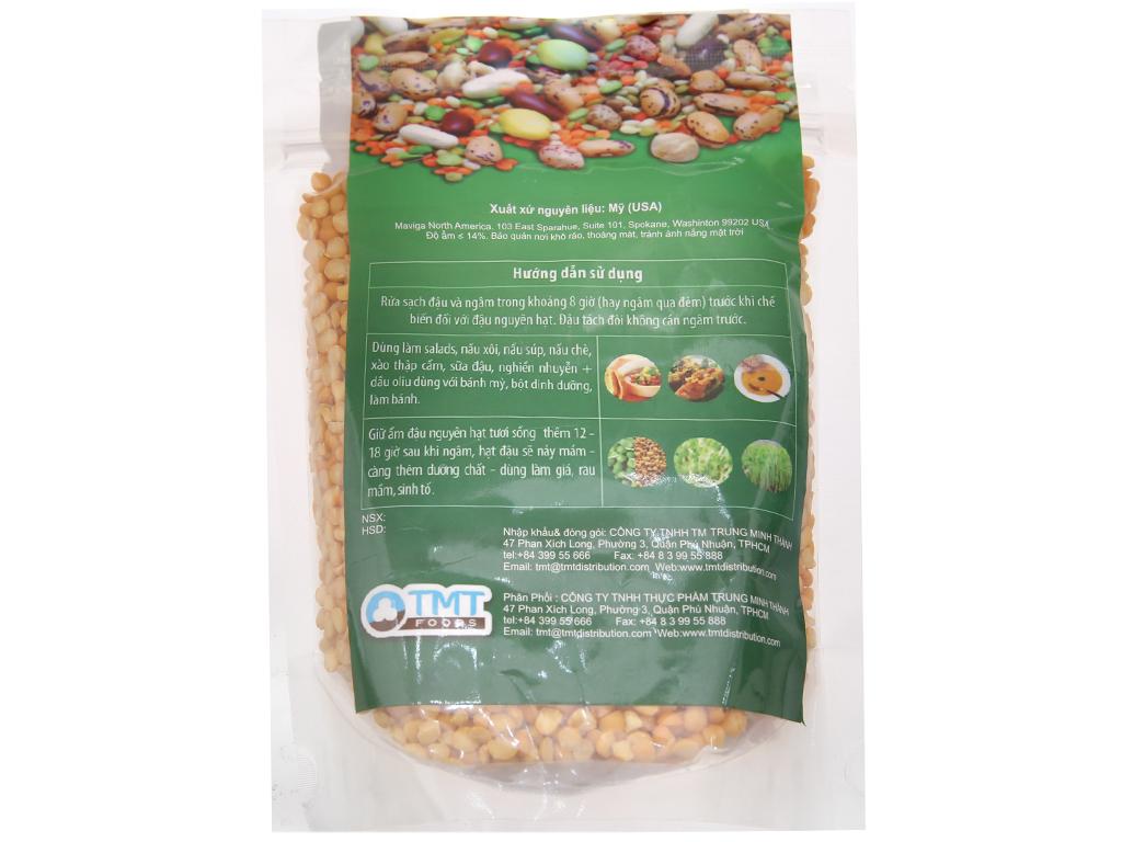 Đậu Hà Lan vàng tách đôi TMT Foods gói 500g 2