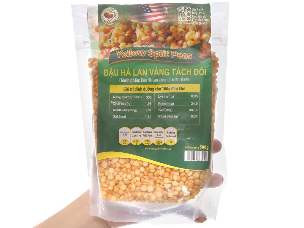 Đậu Hà Lan vàng tách đôi TMT Foods gói 500g 4