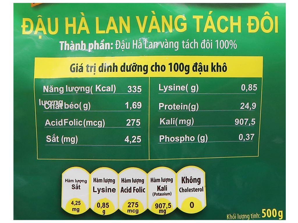 Đậu Hà Lan vàng tách đôi TMT Foods 500g 7