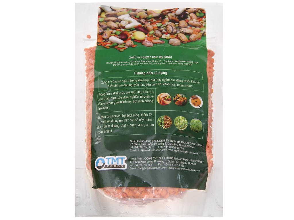 Đậu lăng đỏ tách đôi TMT Foods gói 500g 2