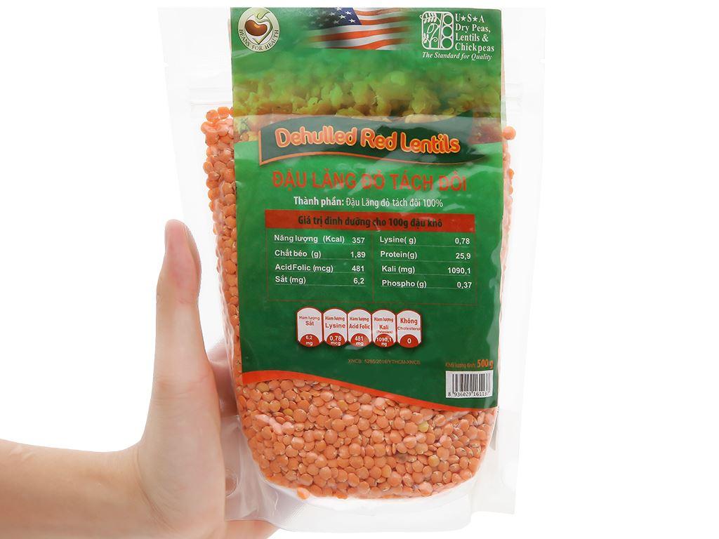 Đậu lăng đỏ tách đôi TMT Foods 500g 8