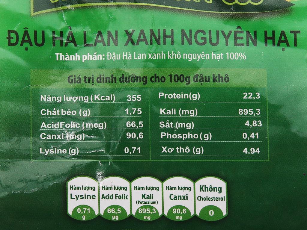 Đậu Hà Lan xanh nguyên hạt TMT Foods gói 250g 7