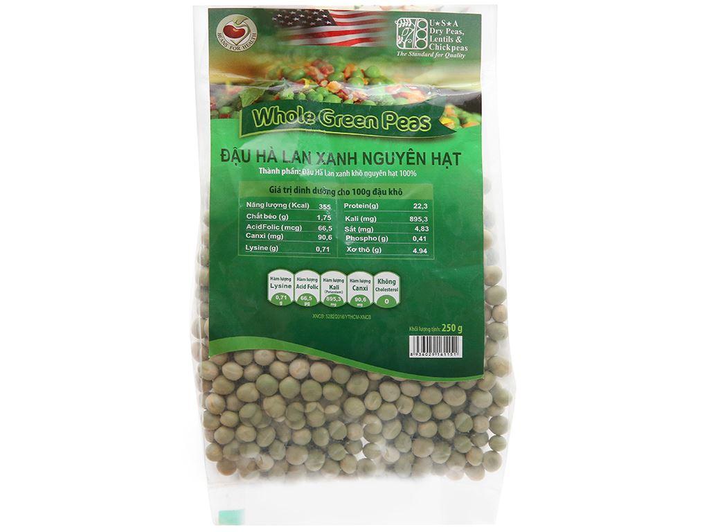 Đậu Hà Lan xanh nguyên hạt TMT Foods gói 250g 10