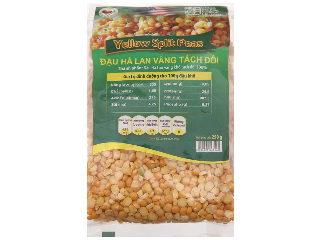 Đậu Hà Lan vàng tách đôi TMT Foods gói 250g 1