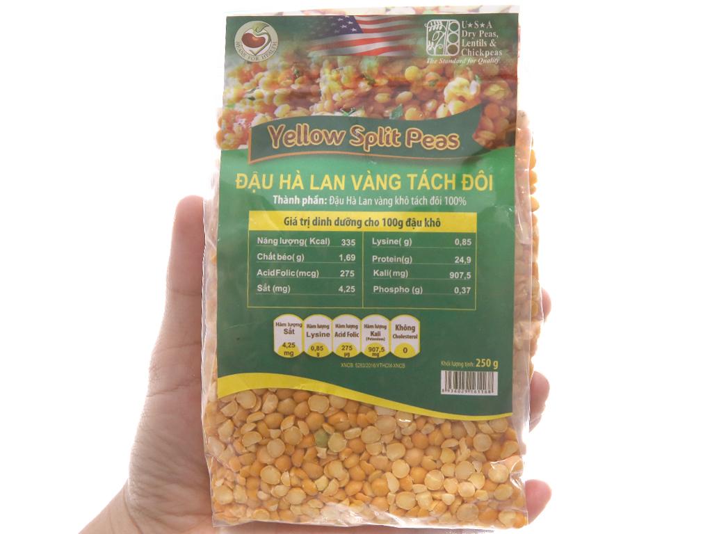 Đậu Hà Lan vàng tách đôi TMT Foods gói 250g 4