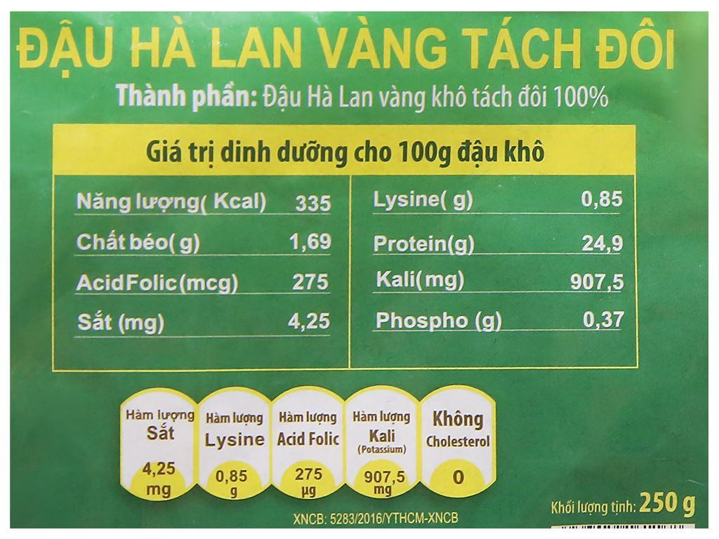 Đậu Hà Lan vàng tách đôi TMT Foods 250g 7
