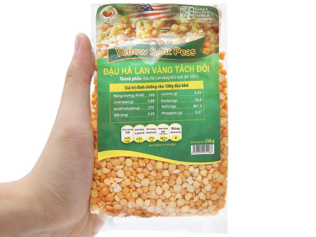Đậu Hà Lan vàng tách đôi TMT Foods 250g 9