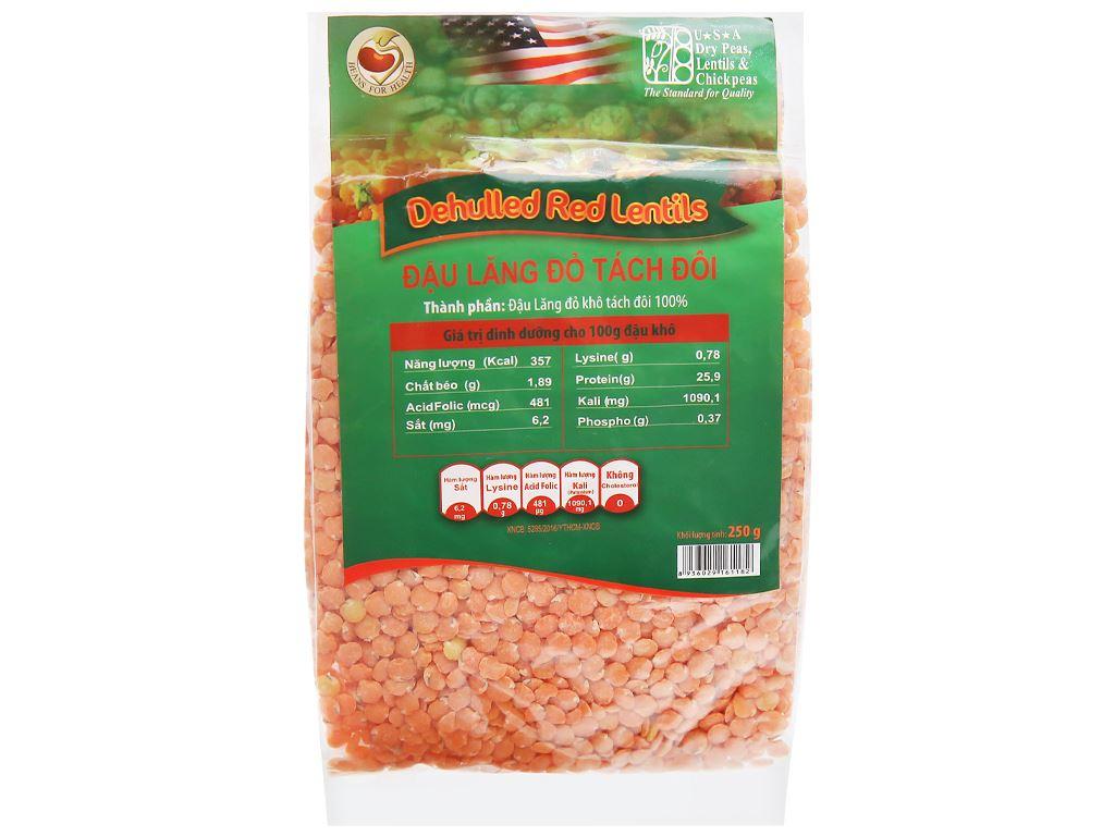 Đậu lăng đỏ tách đôi TMT Foods gói 250g 5