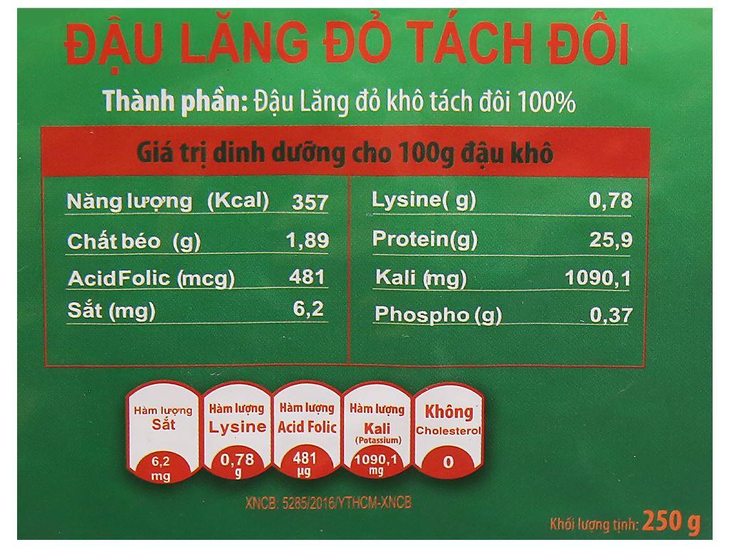 Đậu lăng đỏ tách đôi TMT Foods gói 250g 7