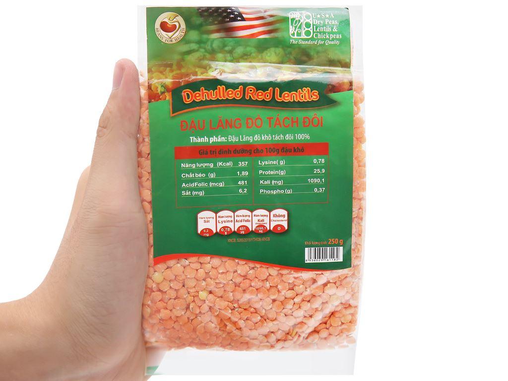 Đậu lăng đỏ tách đôi TMT Foods gói 250g 9