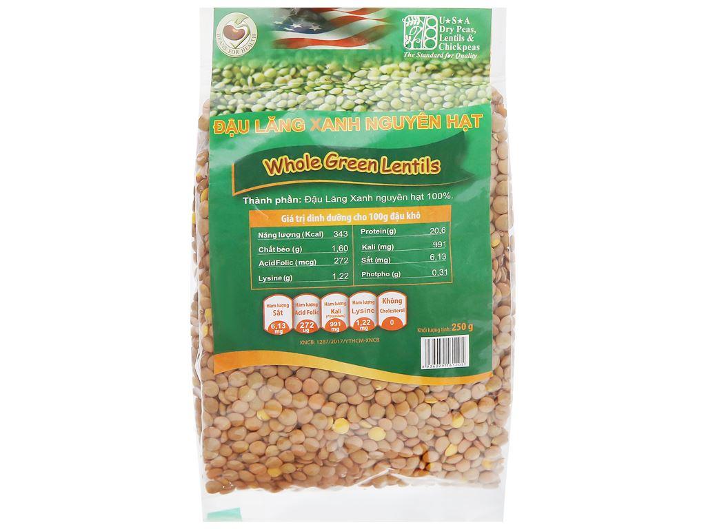 Đậu lăng xanh nguyên hạt TMT Foods gói 250g 5