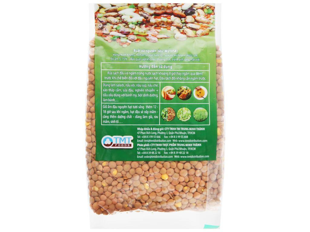 Đậu lăng xanh nguyên hạt TMT Foods gói 250g 6