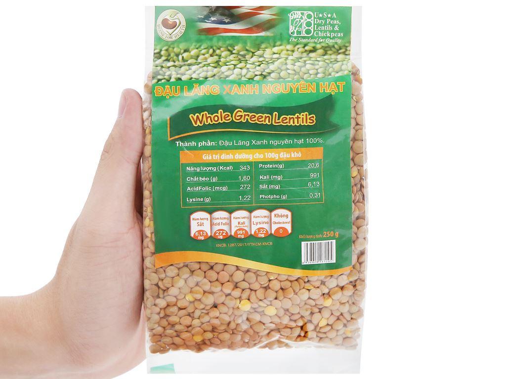 Đậu lăng xanh nguyên hạt TMT Foods gói 250g 8