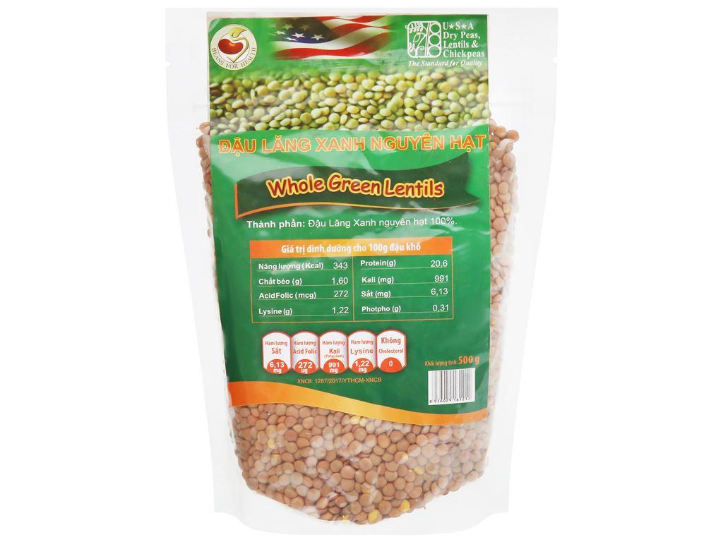 Đậu lăng xanh nguyên hạt TMT Foods 500g 5