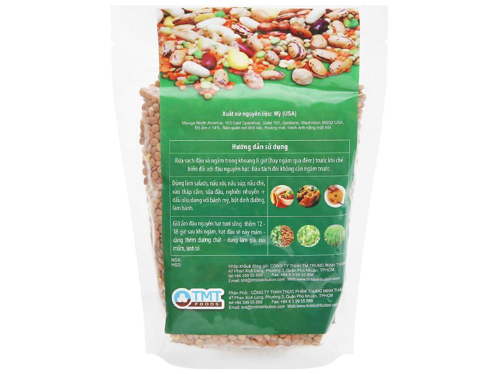 Đậu lăng xanh nguyên hạt TMT Foods gói 500g 6