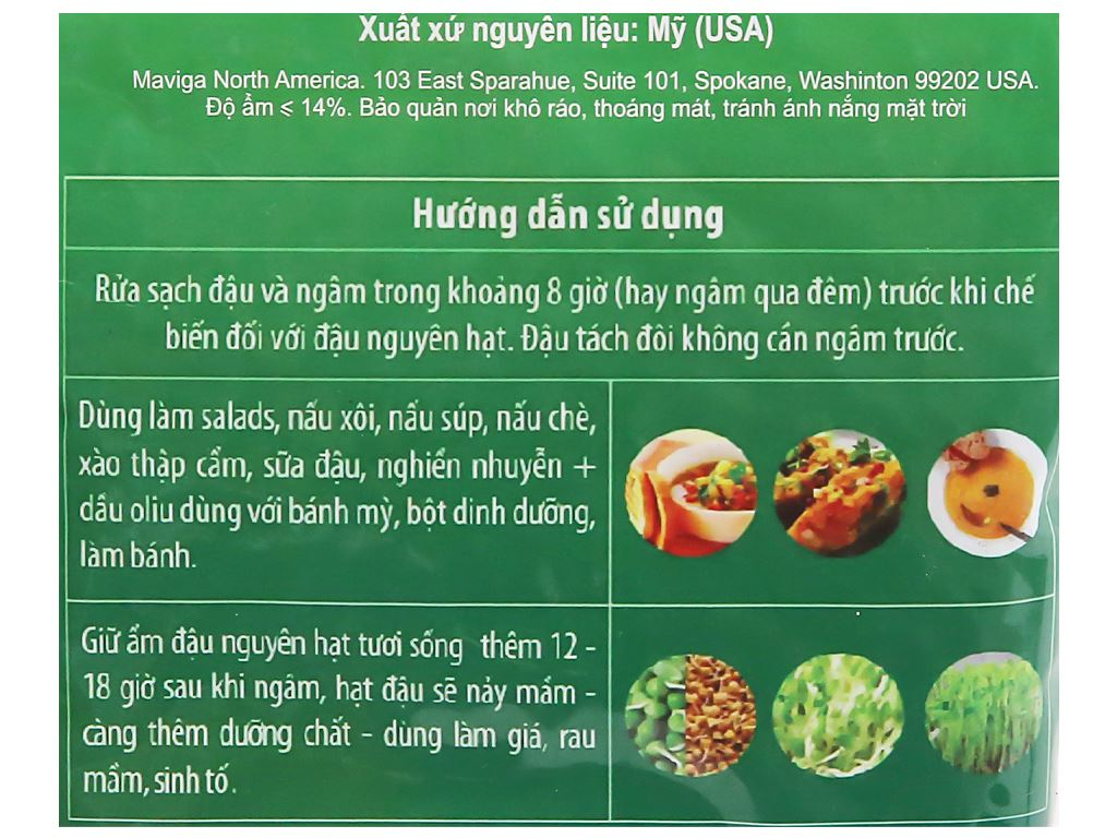 Đậu lăng xanh nguyên hạt TMT Foods gói 500g 7