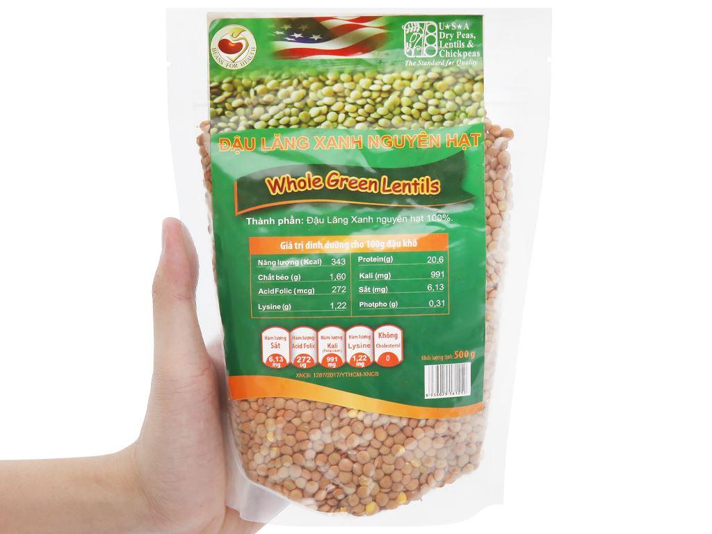 Đậu lăng xanh nguyên hạt TMT Foods gói 500g 8