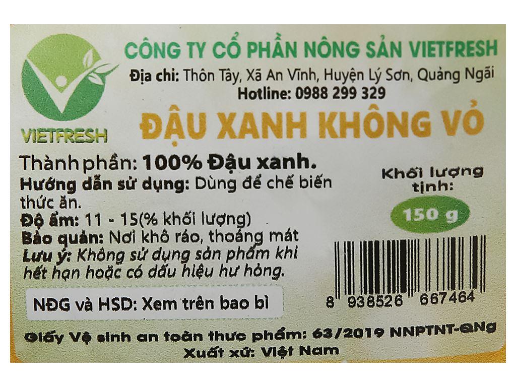 Đậu xanh cà tách vỏ cao cấp Vietfresh 150g 9