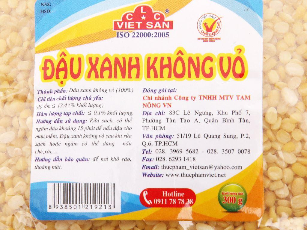 Đậu xanh không vỏ Việt San gói 300g 4