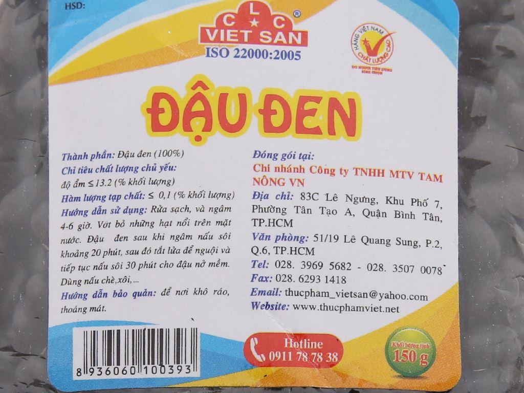 Đậu đen Việt San gói 150g 3