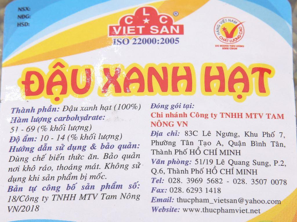 Đậu xanh hạt Việt San gói 500g 2