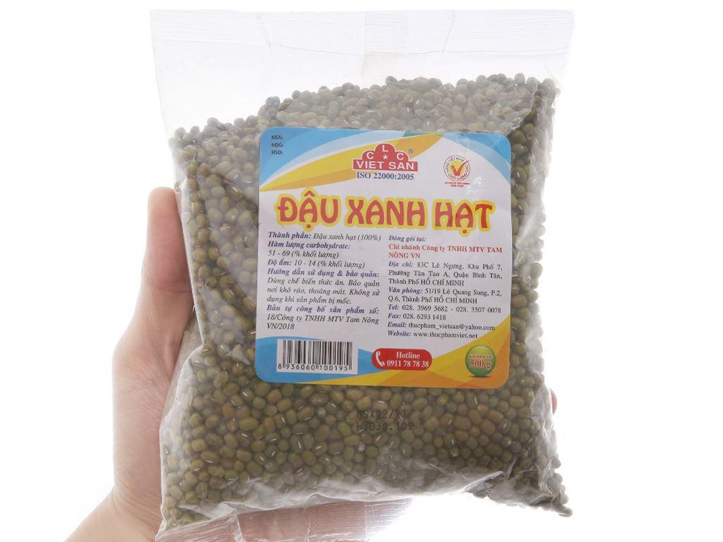 Đậu xanh hạt Việt San gói 500g 4