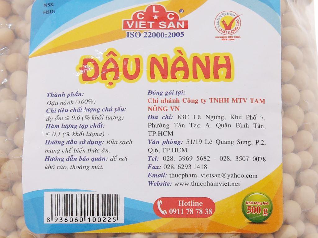 Đậu nành Việt San 500g 4